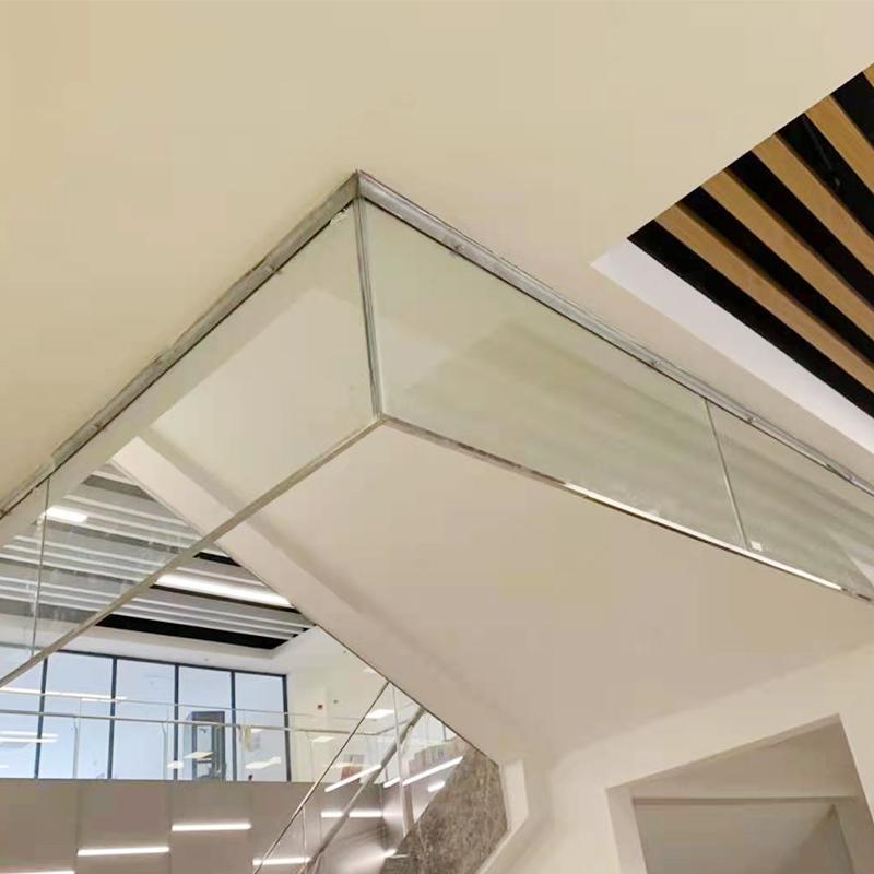固定钢性挡烟垂壁防火玻璃